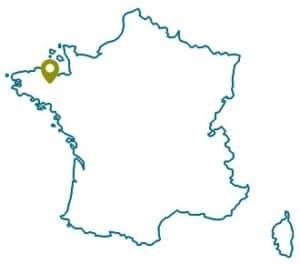 localisation saint brieuc en France